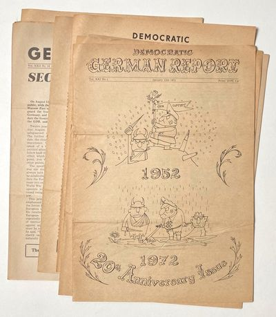 Berlin, East Germany: Democratic German Report, 1973. Seven issues of the newsletter published in Ea...