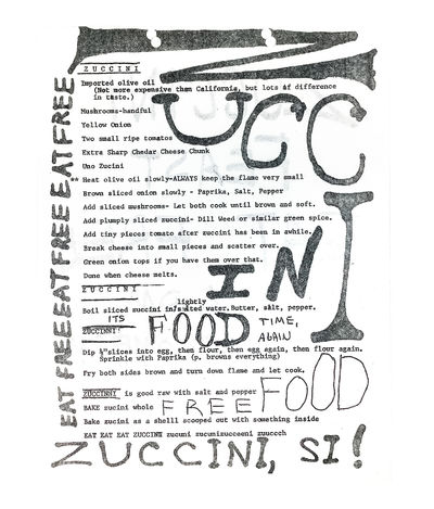 Zuccini Feast Eat Free.