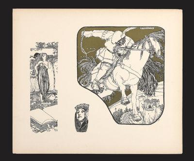 Vienna, 1900. Vienna: Martin Gerlach (1900). Oblong 4to, decorated portfolio, cloth and boards, ties...