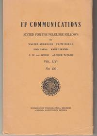 FF Communications Edited for the folklore fellows Vol. LIV 2 N:0 130