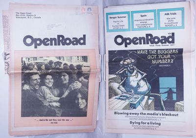 Vancouver, BC: Open Road, 1977. Two issues of Open Road, a Vancouver-based anarchist-oriented newspa...