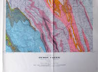 Fold-Out Geological Survey Map in Colour. Map 827a Dyson Creek Alberta West of Fifth Meridian