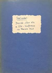 II. Internationale Konferenz der Papierhistoriker vom 25. bis 26. Juni  1960 in Mainz.