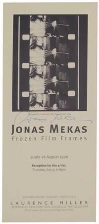 Jonas Mekas: Frozen Film Frames (Signed)
