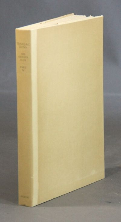 New York: Grolier Club, 1921. Editions limited to 404 copies, small 4to, pp. 178, ; gravure frontisp...