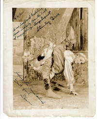 AN ORIGINAL SIENNA-TONED PHOTOGRAPH of the VAUDEVILLE ACROBATS, the STANLEY BROS. INSCRIBED TWICE & SIGNED \