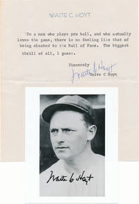 Typed Note Signed / Unsigned Photograph