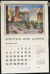United Air Lines.  1955 Calendar.