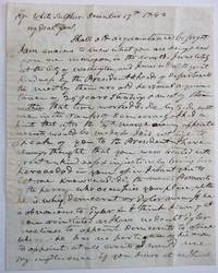 AUTOGRAPH LETTER SIGNED, TO GENERAL SAMUEL MILROY, CONCERNING THE TYLER ADMINISTRATION AND THE POSSIBILITY OF TYLER'S APPOINTMENT OF MILROY TO A POLITICAL OFFICE