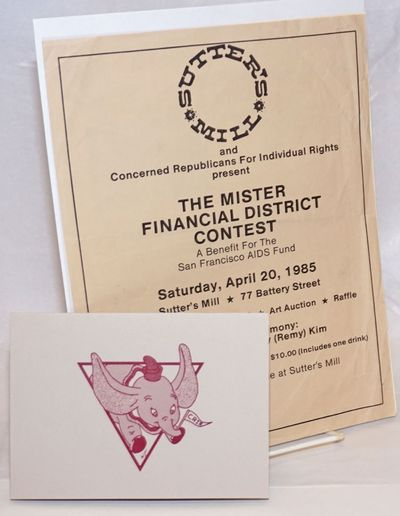 San Francisco: Concerned Republicans for Individual Rights, 1985. Three 8.5x11 inch handbills and on...