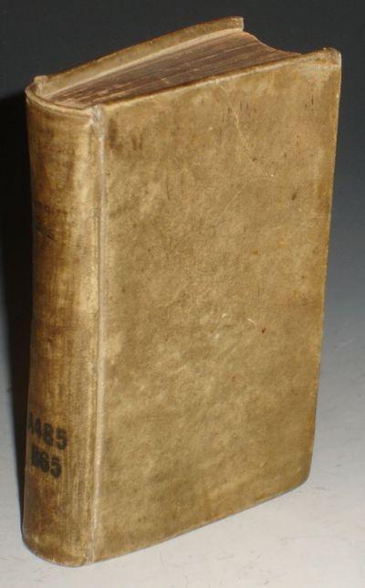 Frankerae: Leon Strickium, 1702. 12mo in 6s. Latin text. 276, . Lamberus Bos (1670-1717) was a Dutch...