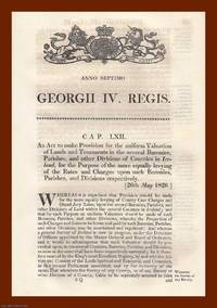 VALUATION OF LAND (IRELAND) ACTS, 1826-1836. An interesting selection of 3 original Acts of...