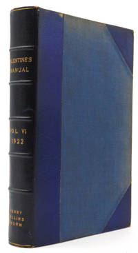 Valentine's Manual of Old New York. No. 6. New Series 1922
