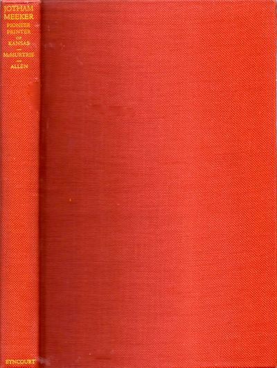 Chicago: Eyncourt Press, 1930. Limited Edition. Hardcover. Very good +. Octavo. 169 pages, . Tipped ...