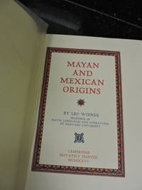 Mayan and Mexican Origins
