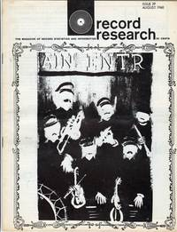Record Research: The Magazine of Record Statistics and Information, Issue 29, August 1960 by Colton, Bob; Kunstadt, Len - 1960