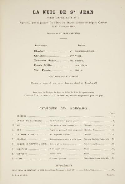 Paris: Enoch & Cie. , 1886. Large octavo. Quarter dark blue calf with blue cloth boards blind-tooled...