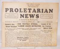 Proletarian News. Vol. 3 no. 10