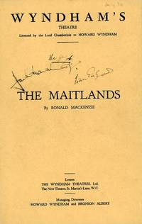 image of Programme for 'The Maitlands' signed by both on the front, (Sir John, 1904-2000, Actor) & Jack HAWKINS (1910-1973, Actor)