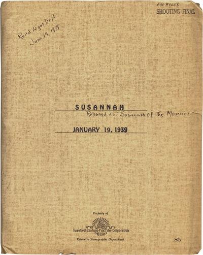 Los Angeles: Twentieth Century-Fox, 1939. Final Script for the 1939 Shirley Temple film,
