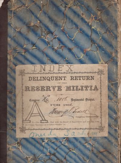 Oneida, 1866. Ledger. Very good. 3 Ledgers. Approx. 13.25 x 8 inches. 32 pages each. Original marble...
