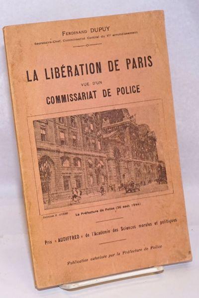 Paris: Librairies Imprimeries Reunies, 1946. Paperback. Reprint; 64p., illustrated with numerous fuz...