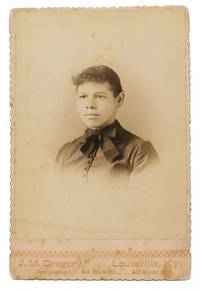 ALBUMEN CABINET CARD PHOTOGRAPH Of An AFRICAN-AMERICAN WOMAN