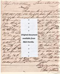 HANDWRITTEN LETTER (ALS) AND SHIP'S INVENTORY, ADDRESSED TO N & WW BILLINGS AT NEW LONDON, CONNECTICUT, DATELINED PHILADELPHIA, OCTOBER 8, 1829