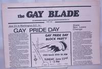 image of The Gay Blade [aka The Blade & Washington Blade] vol. 6, #6, June 4, 1975: Gay Pride Day