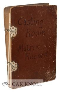 CASTING ROOM MATRIX RECORD