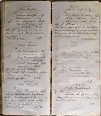 Pharmacist's Manuscript Ledger, Norwich 1883-1884