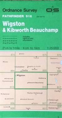 Wigston & Kibworth Beauchamp Pathfinder map sheet 916