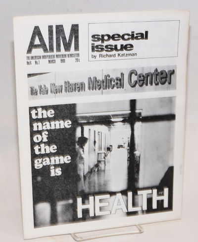 New Haven: AIM, 1969. 11 p., 8.5x11 inches, very good. The entire issue devoted to Katzman's critiqu...