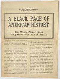 image of A black page of American history. The money power rides roughshod over humban rights
