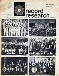 Record Research: The Magazine of Record Statistics and Information, Issue 24, September/October 1959 by  Len  Bob; Kunstadt - Paperback - 1959 - from Dinsmore Books and Biblio.com