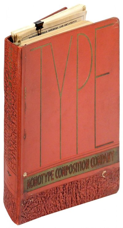 Baltimore: Monotype Composition Company, 1950. Hardcover. Very Good. Hardcover. Scarce. This compreh...