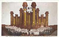 Famous Organ and Choir in the Great Mormon Tabernacle, Salt Lake City, Utah, used Postcard