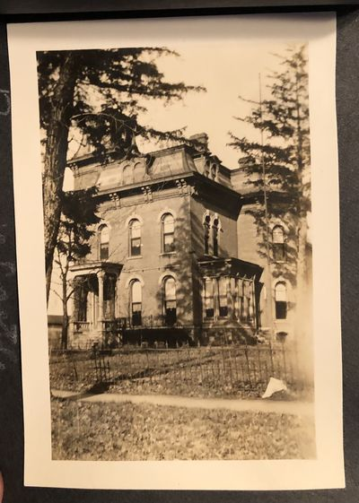 Small album containing 11 photos of Three Rivers, Michigan taken by a young girl. Circa 1920s-30s. L...