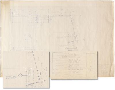 Culver City, CA: Columbia Pictures, 1986. Archive of five original architectural blueprints for loca...