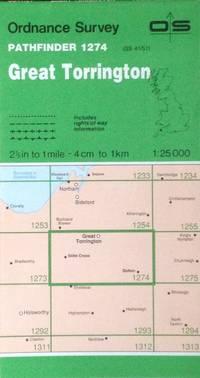 Great Torrington Pathfinder map sheet 1274