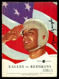 OFFICIAL PROGRAM - Eagles vs Redskins - October 8, 1944 - Philadelphia PA by Anonymous (editor) - Paperback - Signed First Edition - 1944 - from W. Fraser Sandercombe (SKU: 215592)