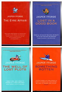 image of THE EYRE AFFAIR; LOST IN A GOOD BOOK;  THE WELL OF LOST PLOTS; SOMETHING  ROTTEN. 4 Volume set of Thursday Next books.