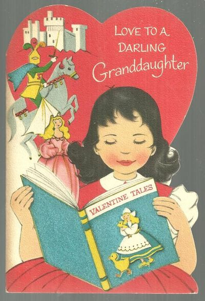 VINTAGE DARLING GRANDDAUGHTER VALENTINE CARD, Valentine