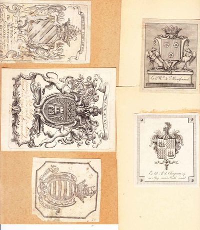 Collection of 31 engraved ex libris from French private libraries. Most are identified either in pla...