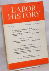 image of Labor history. vol 10, no. 4, Fall, 1969