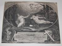 Adam and Eve With Angel Above. PRINT.