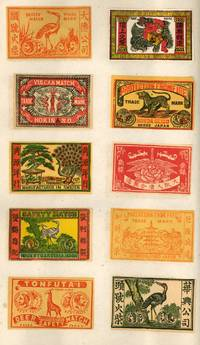 image of Early Trade Catalog of Japanese Matchbox Labels by the Manfat Company. Including 500 different kinds. Manufactured by Manfat Kobe Japan. Shong. Kat. Waikee 2