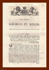 PERSONAL ESTATES ACTS, 1826-1833. An interesting selection of 5 original Acts of Parliament