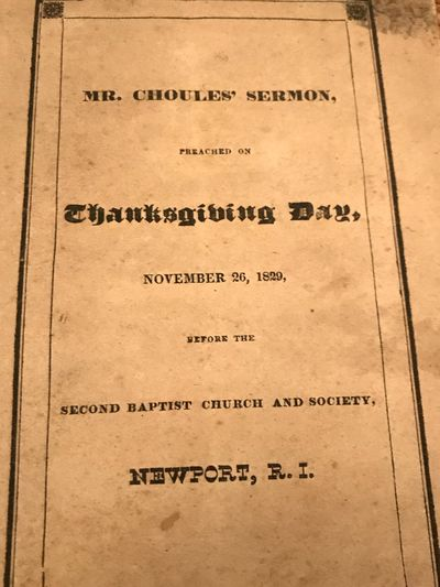 Providence, RI: H.H. Brown, 1830. Wraps. Cream wraps. Very good. 27 pages. 22 x 13.5 cm. Historical ...