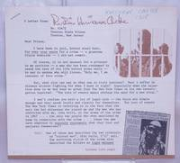 image of A letter from Rubin Hurricane Carter [fundraising appeal]